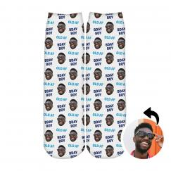 Custom Face Upload Birthday Boy Socks