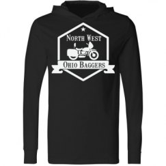 Unisex Long Sleeve Jersey Hooded Tee